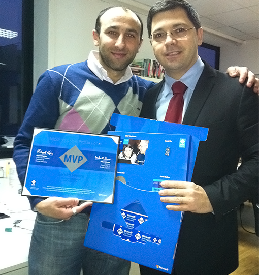 Miguel Silva very happy with his fellow BizTalk specialist