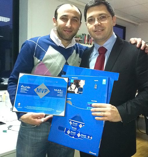 Miguel Silva very happy with his fellow BizTalk specialist