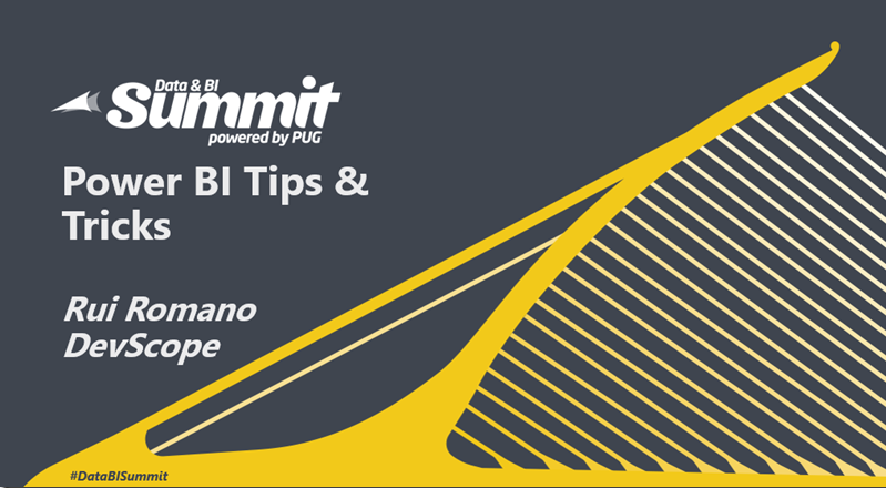 """Check out Rui Romano's """"Power BI Tips & Tricks from thetrenches"""""""
