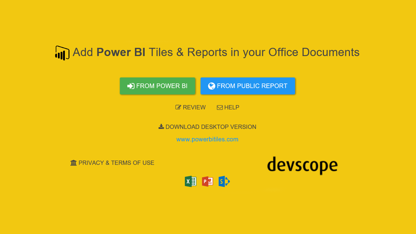 PowerBI Tiles Pro 101: logging in with a Power BI account