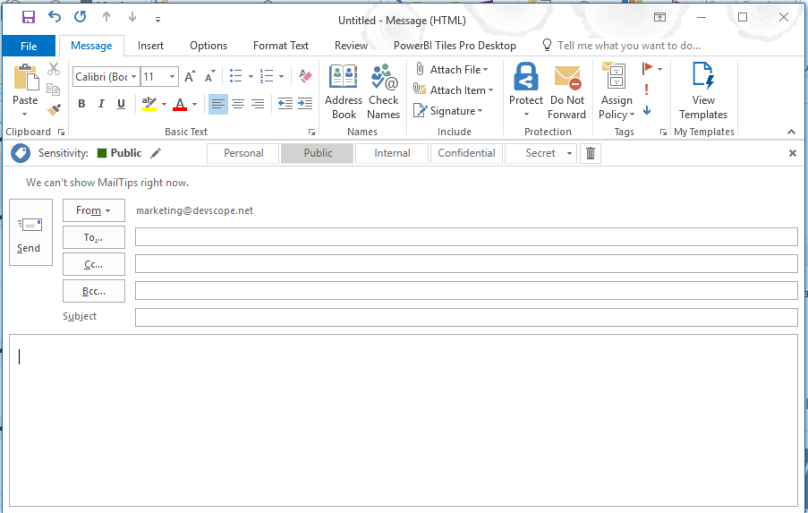Embed Power BI reports in Outlook